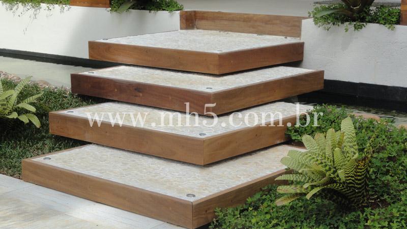 escadas externas jardim : escadas externas jardim:Escadas de Madeira – MH5 Carpintaria